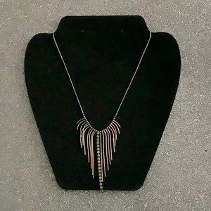 Sterling silver necklace with dangling strands